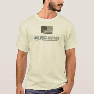 USA Flag (Coyote): Jihad Works Both Ways T-Shirt