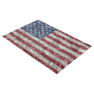 USA Flag - Crinkled Doormat