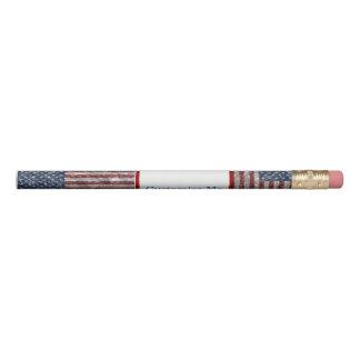 USA Flag - Crinkled Pencil