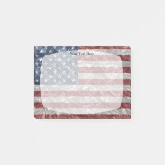 USA Flag - Crinkled Post-it Notes