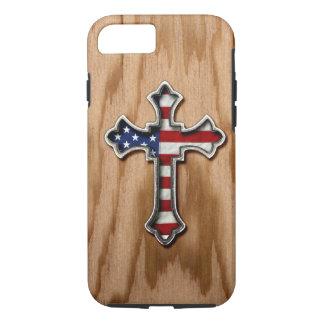 USA Flag Cross iPhone 8/7 Case