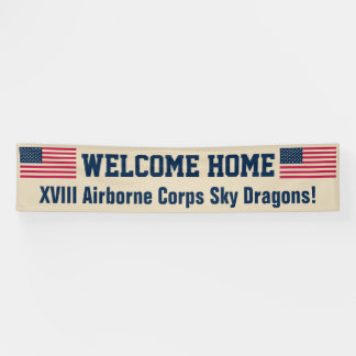 USA Flag Desert Welcome Home Custom Banner
