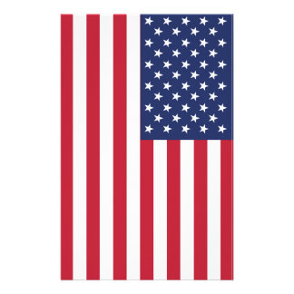 USA Flag Design. American Flag. The U.S. Flag Stationery