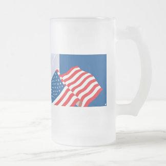 USA FLAG DESIGN COFFEE MUG
