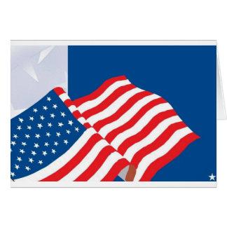 USA FLAG DESIGN GREETING CARD