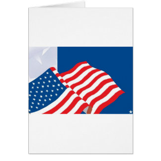 USA FLAG DESIGN GREETING CARD