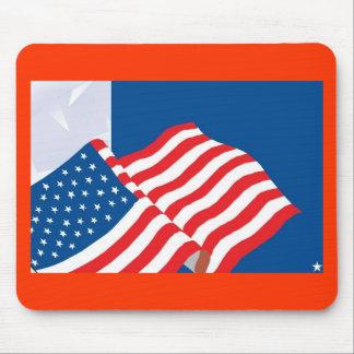 USA FLAG DESIGN MOUSE PAD