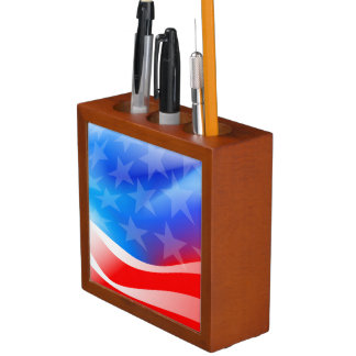 USA flag Desk Organizer