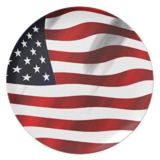 USA Flag Dinner Plates