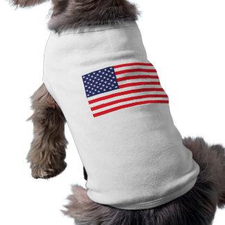 USA Flag Dog Jacket Doggie Shirt
