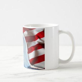 USA FLAG EAGLE COFFEE MUG