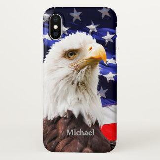 USA Flag Eagle iPhone X Case