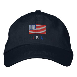 USA Flag Embroidered Hat