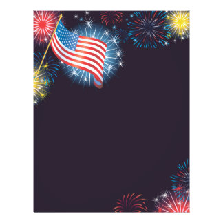 USA Flag & Fireworks Flyer