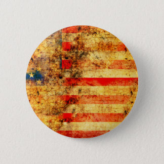 USA Flag Grunge 2 Inch Round Button