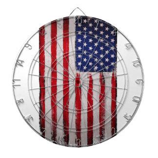 USA flag Grunge Dartboard