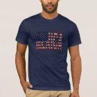 USA Flag Grunge Letters MERICA american pride T-Shirt