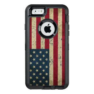 USA Flag Grunge OtterBox Defender iPhone Case