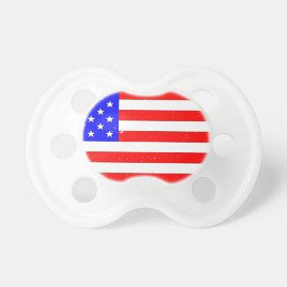 USA Flag Grunge Pacifiers