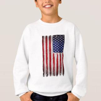USA flag Grunge Sweatshirt