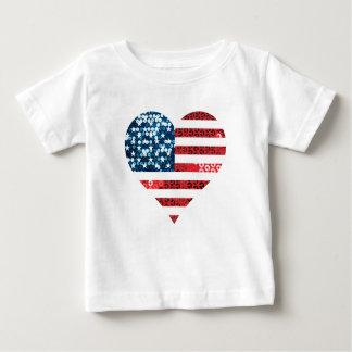 usa flag heart baby T-Shirt