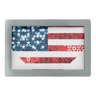 usa flag heart belt buckle