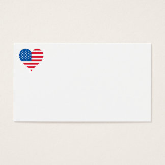 Usa Flag Heart Business Cards