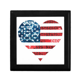usa flag heart gift box