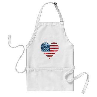 usa flag heart standard apron