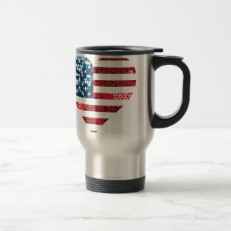 usa flag heart travel mug