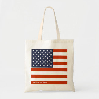 USA flag Home of the brave patriotic bag