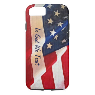 USA Flag - In God We Trust iPhone 8/7 Case