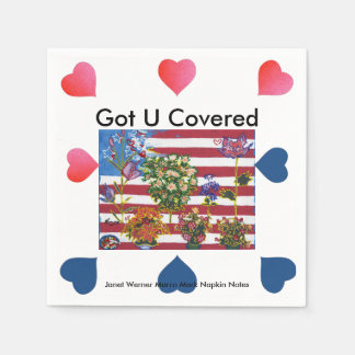 USA Flag July 4th Paper Napkins