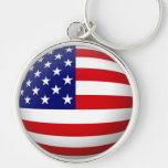 USA Flag Large Premium Keychain