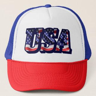 USA Flag Letters, American Flag Trucker Hat