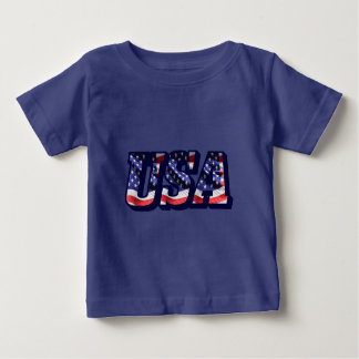 USA Flag Letters, Flag Baby Fine Jersey T-Shirt