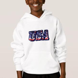 USA Flag Letters, Flag Kids Hoodie Sweatshirt