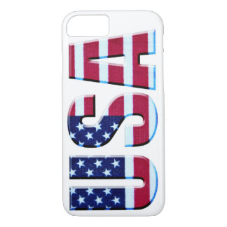 USA Flag Letters iPhone 7 Case