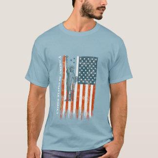 USA Flag Liberty, America, Distressed Art T-Shirt