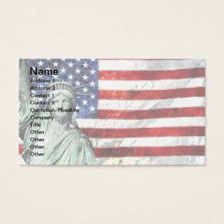 USA FLAG & LIBERTY BUSINESS CARD