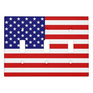 USA Flag Light Switch Triple Toggle