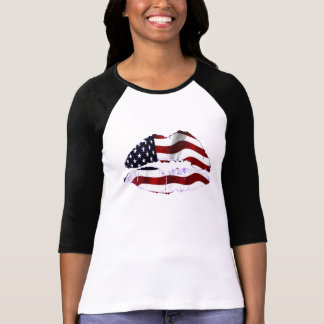 USA Flag Lips T-Shirt