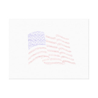 USA Flag made of Declaration of Independence text. Canvas Print