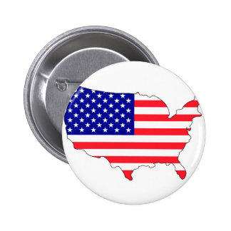 Usa flag map 2 inch round button