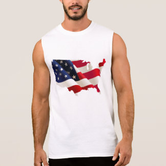 USA flag map Sleeveless Shirt