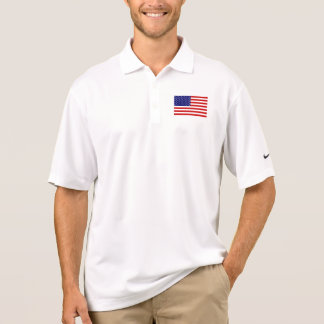 USA Flag Mens Pique Polo Shirt