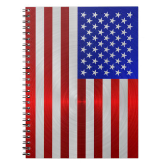 USA FLAG METAL 2 NOTE BOOKS