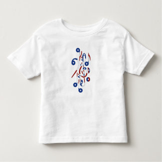 USA Flag Musical Notes Toddler T-shirt