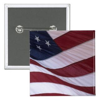 USA flag, North Carolina, USA 2 Inch Square Button
