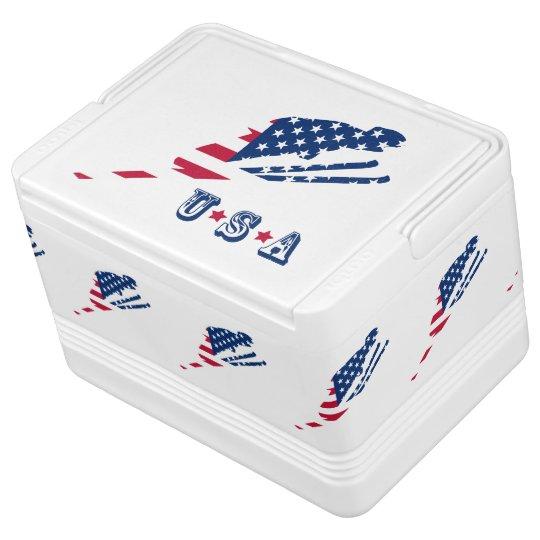 USA Flag of America Skiing American